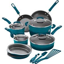 rachael ray pan set. Delighful Ray Rachael Ray 15 Piece Hard Enamel Aluminum Nonstick Cookware Set   Walmartcom Throughout Pan Walmart