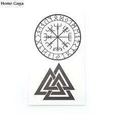 Homegaga 2ks Severské Viking Diy Dočasné Tetování Para ženy Rameno