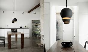 modern kitchen pendant lighting ideas. Fascinating Kitchen With Cool White Interior Paint Ideas Industrial Pendant Lighting For Plus Wood Flooring Modern H