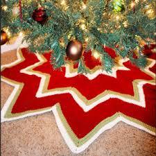 Christmas Tree Skirt Crochet Pattern Extraordinary Twelve Pointed Star Christmas Tree Skirt AllFreeCrochet