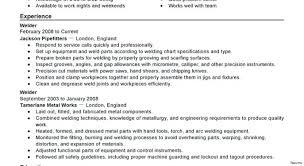 Resume Pipe Welder Resume Examples Welding Objective Statement Classy Welding Resume
