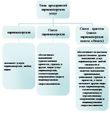 Реферат Парикмахерская как предприятие сферы услуг Рис 1 Классификация типов предприятий парикмахерских услуг