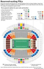 Oracle Arena Seating Chart Raiders Las Vegas Raiders Stadium Reserved Seating Psls To Cost Fans