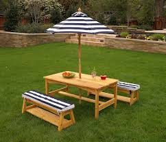outdoor table and chairs with cushions. amazon.com: kidkraft outdoor table and chair set with cushions navy stripes: toys \u0026 games chairs