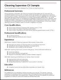 Sample Resume For Housekeeping Supervisor Housekeeping Supervisor