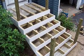 deck over concrete stoop building a deck over concrete patio