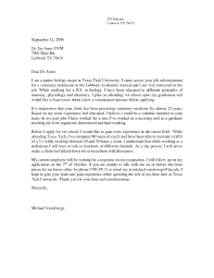 Cover Letter For Vet Assistant   The Letter Sample