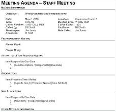 Mandatory Staff Meeting Template Memo Free Sample Example Format