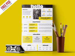 Creative And Elegant Resume Template Free Psd Psdfreebies Com