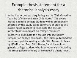 rhetorical essay examples co rhetorical essay examples