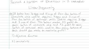 solving a system of linear equations in