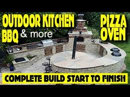how to build an outdoor kitchen bbq pizza oven 14 day full build you