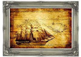 maps mural old world map with ship wall murals