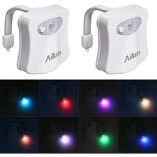 Ailun Motion Activated Led Light Toilet Night Light2packby Ailun Motion Activated Led Light 8 Colors Changing For