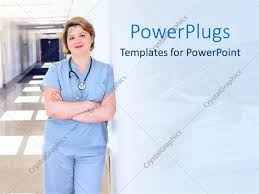 Descargar Doc Powerpoint Template Pretty Female Nurse With