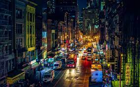 New York Street At Night Wallpaper ...