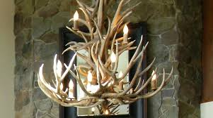 chandeliers antler chandelier kit 8 light mule deer antler