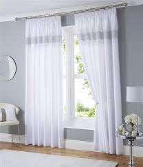 pencil pleat lined curtains white black or silver