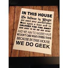 in this house we do geek canvas wall hanging 8x10 home deco
