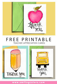Free Printable Thank You Postcards Thank You Card For Teacher And School Bus Driver With Free