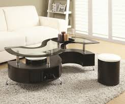 Good Serpentine Coffee Table With Stools
