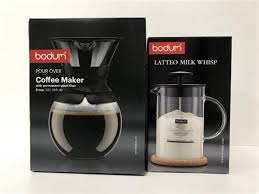 Pour over coffee maker with permanent stainless steel filter, 12 cup, 1.5 l, 51 oz. Sold Price A Bodum Pour Over Coffee Maker Milk Whisp Invalid Date Aest