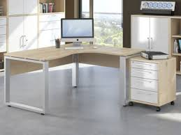 contemporary office desks for home. exellent contemporary harmony ergonomic corner office desk in natural beech with silver metal  feet by maja in contemporary desks for home