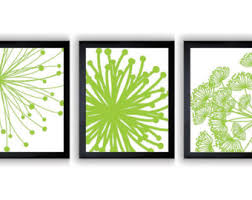 lime green wall artwork