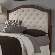 wood and upholstered beds. Upholstered Headboard Mahogany/Cherry Wood Camelback Platform Design - Off White And Beds A