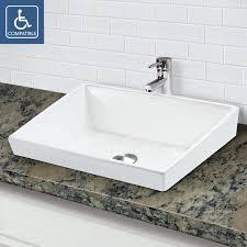 classically redefined rectangular semi recessed vitreous china bathroom sink contemporary bathroom design s