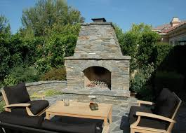 prefab outdoor fireplace patio