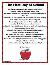 best first day poem ideas poem of the day   the poem by judith viorst the first day of school and then have students write their own what if be the first to know about my new discounts
