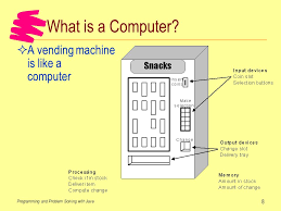 How To Program A Vending Machine New Introduction What Is A Computer Programming A Computer Ppt Download