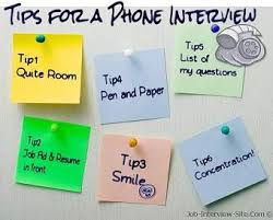 Interview Tips Top Phone Interview Tips To Help You Get A Second Interview