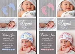 Boy Or Girl Baby Announcement Premium Personalised New Baby Photo Thank You Cards Boy Girl Birth Announcement 20
