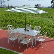 white cast aluminum outdoor furniture