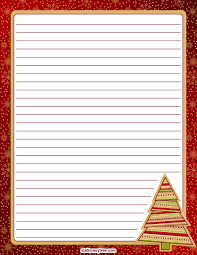 christmas writing paper printable