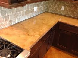 colored and stained concrete countertop rustic