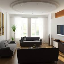 Modern Living Room Design Ideas With Wonderful Modern Rounded Drop Ceiling  Ideas Also Interesting Modern Sofa