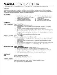 Home Health Care Nurse Resume Objective