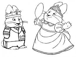 Small Picture Free Coloring Page Of Max And Ruby Playing King And Queen Nick