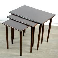 danish modern rosewood nesting tables set of  for sale at pamono