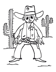 Cowboy Coloring Page Printable Coloring Page For Kids