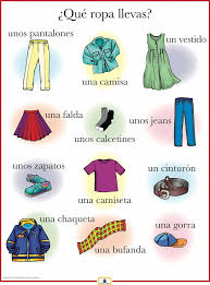 Spanish Clothing Poster   Worksheets, Spanish and Learn spanish