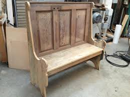 rustic bench made old door benches
