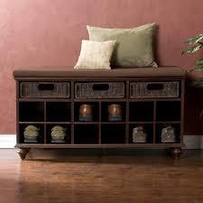 Living Room Bench With Storage Sei Savoy Cubby Bench Espresso Bjs Wholesale Club