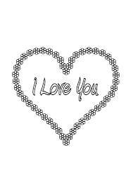 Small Picture I Love You Flowers in a Shape of a Heart Coloring Pages Batch