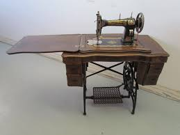 Antique White Family Rotary Sewing Machine In 'Fancy' Treadle . just like  my Grandmother's.