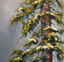pine tree painting lone lodgepole by canadian artist kim blair