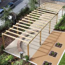 Steel Walkway Design Self Supporting Pergola Wooden Galvanized Steel For Public Spaces Spg300 Langley Design